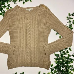 Forever21 Taupe Knitted Sweater (M)